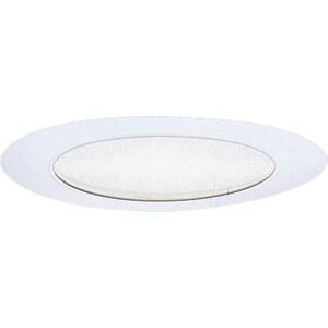 Progress Lighting Recessed Albalite Glass Recessed Trim Bright White PP802028