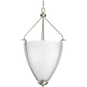 Progress Lighting Bravo 100W 3-Light Medium Pendant in Brushed Nickel PP396909
