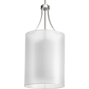 Progress Lighting Invite 60W 2-Light Foyer Pendant in Brushed Nickel PP504609
