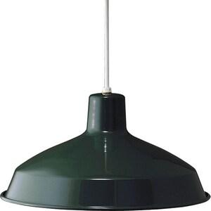 Progress Lighting Metal Shade Collection 7-1/2 in. 150W 1-Light Pendant in Dark Green PP509445