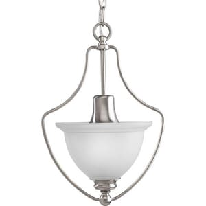 Progress Lighting Madison 75W 1-Light Medium Pendant Light in Brushed Nickel PP3792