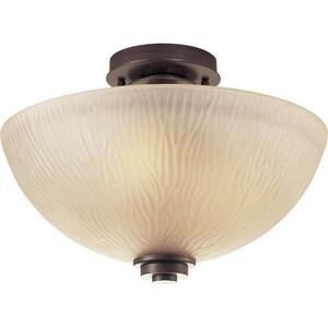 Progress Lighting Riverside 100W 3-Light Medium E-26 Incandescent Semi-Flush Ceiling Light in Heirloom PP352588