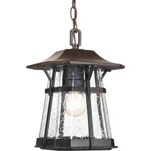 Progress Lighting Derby 100W 1-Light Hanging Lantern in Espresso PP557984