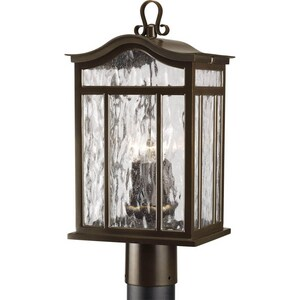 Progress Lighting Meadowlark 3 in. 60 W 1-Light Medium Post Lantern in Oil Rubbed Bronze PP5468108