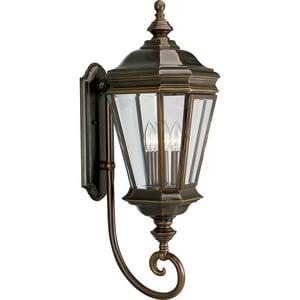Progress Lighting Crawford 12-1/2 in. 60 W 3-Light Candelabra Wall Lantern in Oil Rubbed Bronze PP5672108