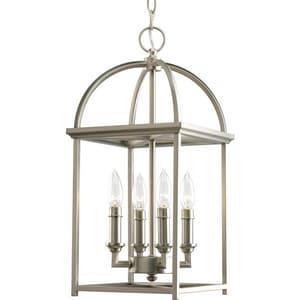 Progress Lighting Piedmont 60 W 4-Light Candelabra Lantern in Burnished Silver PP3884