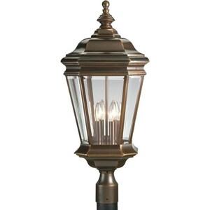 Progress Lighting Crawford 60 W 4-Light candelabra Post Lantern in Oil Rubbed Bronze PP5474108