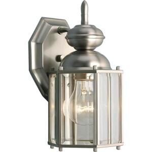 Progress Lighting BrassGuard Lantern 10-1/4 x 5-3/8 in. 100W 1-Light Outdoor Wall Lantern PP5756