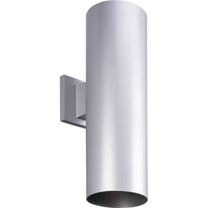 Progress Lighting Cylinder 250 W 2-Light Medium Lantern in Metallic Grey PP564282