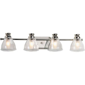 Progress Lighting Academy 4-Light 35W Bath and Vanity Fixture in Polished Chrome PP281315WB