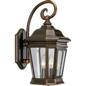 Progress Lighting Crawford 11-1/8 in. 60 W 2-Light Candelabra Wall Lantern in Oil Rubbed Bronze PP5671108