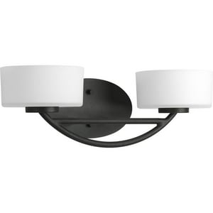 Progress Lighting Calven 60 W 2-Light Halogen Bracket in Forged Black PP321080WB