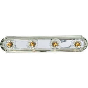 Progress Lighting Broadway 4 Light 60W Vanity Light Fixture Polished Chrome PP302515
