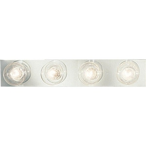 Progress Lighting Broadway 4 Light 60W Bath Strip Lighting Polished Chrome PP329815