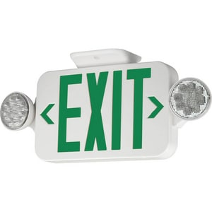 Progress Lighting LED Emergency Exit Combo in Green and White PPE01130