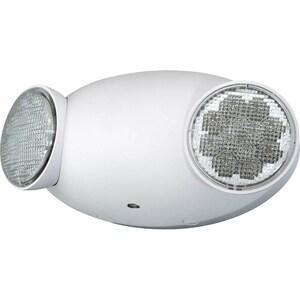 Progress Lighting Dual Head LED Emergency Light in White PPE01230
