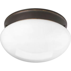 Progress Lighting Fitter 11-3/4 in. 2-Light Close-to-Ceiling Fixture in White PP341220