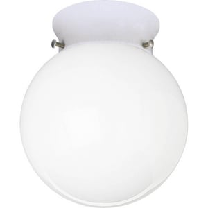 Progress Lighting 100 W 1-Light Medium Fitter Close-to-Ceiling Fixture in White PP370530