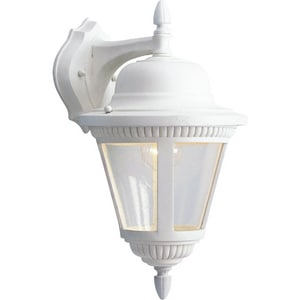 Progress Lighting Westport 9 in. 100 W 1-Light Medium Wall Lantern in White PP586330