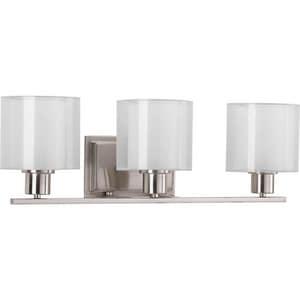 Progress Lighting Invite 23-1/2 in. 100W 3-Light Bath Light in Brushed Nickel PP207909