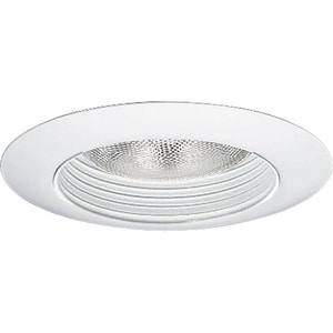 Progress Lighting Recessed 150W Step Baffle Trim Recessed Trim in White PP808228