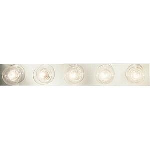 Progress Lighting Broadway 5-Light Medium E-26 Base Vanity Fixture in Polished Chrome PP333515