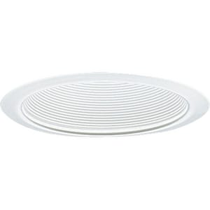Progress Lighting Recessed 75 W 1-Light Medium Baffle Trim in White PP806328
