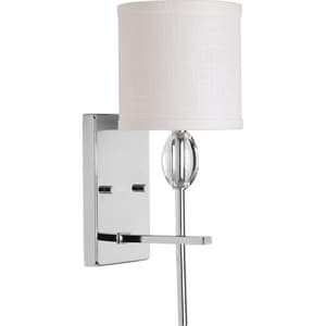 Progress Lighting Status 75W 1-Light Wall Fixture in Polished Chrome PP206015