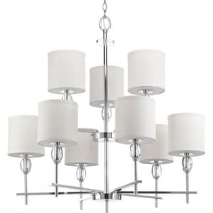 Progress Lighting Status 75W 9-Light Medium Incandescent Chandelier in Polished Chrome PP414215