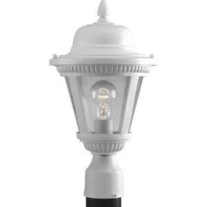 Progress Lighting Westport 1-Light Post Lantern in White PP544530