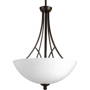 Progress Lighting Prosper 100W 3-Light Inverted Pendant in Antique Bronze PP370020