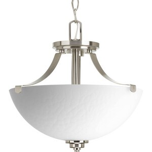 Progress Lighting Legend 2-Light Semi-Flush Convertible Ceiling Fixture in Brushed Nickel PP2315