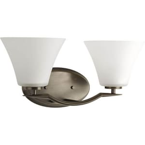 Progress Lighting Bravo 100W 2-Light Medium E-26 Base Incandescent Bath Light in Antique Bronze PP200520W