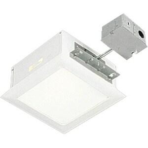 Progress Lighting Recessed 150W Square Recessed Light Fixture in White PP641630TG