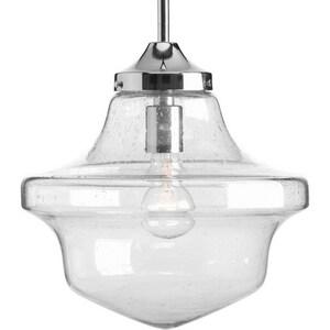Progress Lighting Academy 100W 1-Light Medium Pendant in Polished Chrome PP513815