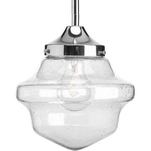 Progress Lighting Academy 100W 1-Light Medium Incandescent Pendant in Polished Chrome PP513715