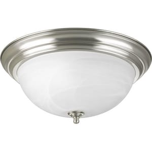 Progress Lighting Dome 18W 3-Light Flush Mount Ceiling Fixture in Brushed Nickel PP392609EB