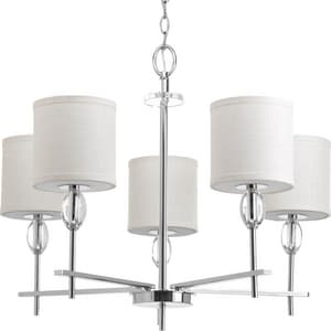 Progress Lighting Status 75W 5-Light Medium Incandescent Chandelier in Polished Chrome PP414115