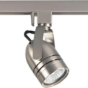 Progress Lighting 50W 1-Light GU10 Incandescent Track Head in Brushed Nickel PP611209
