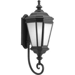 Progress Lighting Crawford 28-7/8 in. 26W 1-Light Outdoor Wall Lantern in Black PP661331