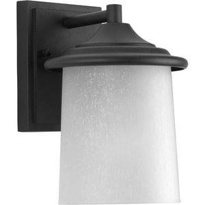 Progress Lighting Essential 8-11/16 in. 100W 1-Light Wall Lantern in Black PP605931