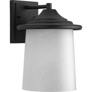 Progress Lighting Essential 11-1/8 in. 100W 1-Light Outdoor Wall Lantern in Black PP606031