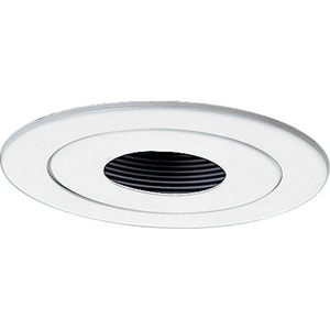 Progress Lighting Recessed 1-Light Pinhole Spot Trim in White PP804228