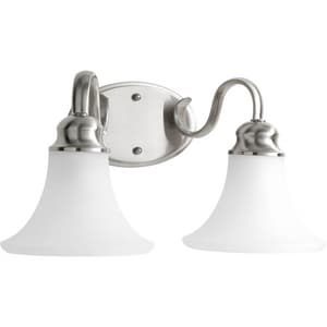 Progress Lighting Applause 2-Light Bath Light in Brushed Nickel PP209609