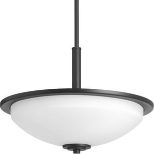 Progress Lighting Replay 16-5/8 in. 100W 3-Light Medium E-26 Incandescent Inverted Pendant Light in Black PP3450