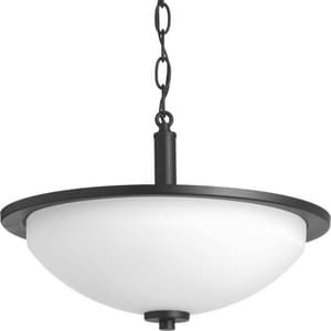 Progress Lighting Replay 100W 2-Light Semi-Flush Mount Ceiling Light in Black PP342431
