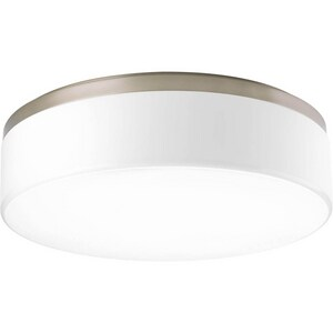 Progress Lighting Maier 17W 3-Light LED Flushmount Ceiling Fixture in Brushed Nickel PP36750930K9