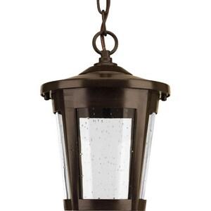Progress Lighting East Haven 9W 1-Light LED Hanging Lantern in Antique Bronze PP65302030K9