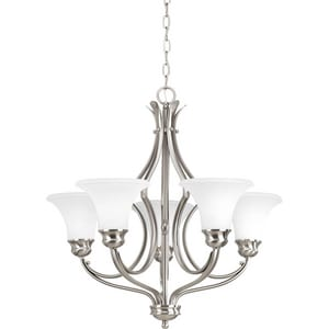 Progress Lighting Applause 24-5/8 in. 5-Light Chandelier in Brushed Nickel PP403609