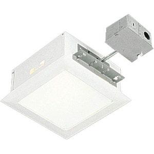 Progress Lighting Recessed 9-1/2 in. Prewired Complete with Housing and Trim in White PP641430TG